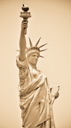declaration of independence: Statue of Liberty in New York Stock Photo