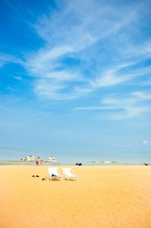 tropical beach: Beach chair