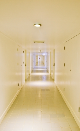long corridor with the lamps photo
