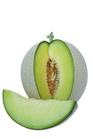 Meloen geïsoleerd op een witte achtergrond