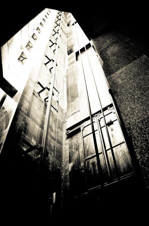 old freight elevator shaft