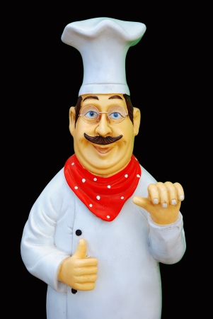 alimentary: Statue of chef