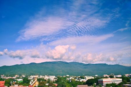 Landscape of view in Chiang Mai province, north of Thailand photo