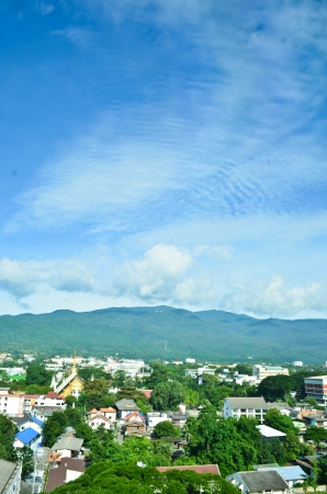 Landscape of view in Chiang Mai province, north of Thailand