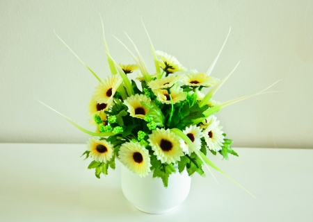 Spring Bouquet in room Stock Photo