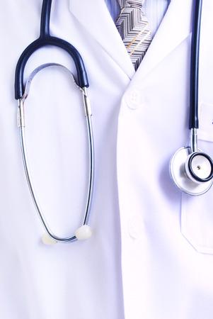 medico computer: Medico e stetoscopio Archivio Fotografico