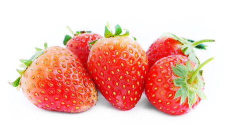 Strawberries isolated on a white background  photo