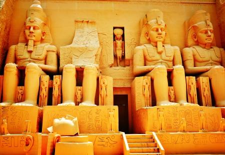 Oude Egyptische Standbeeld Stockfoto
