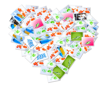medical imaging: Medical Imaging Putting together a heart shape Stock Photo