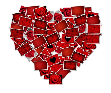 Abstract photo of love concept putting together a heart shape Stock Photo