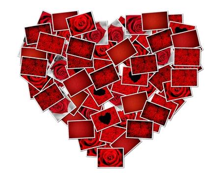 Abstracte foto van liefde concept samenstellen van een hartvorm