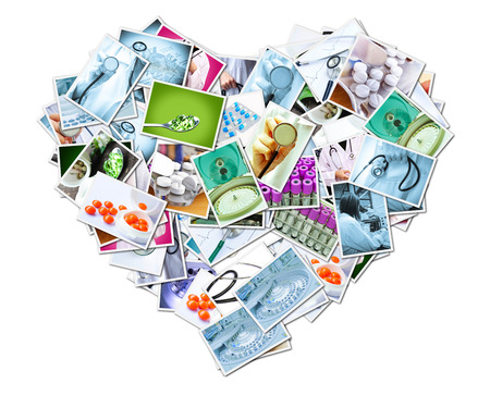 imaging: Medical Imaging Putting together a heart shape Stock Photo