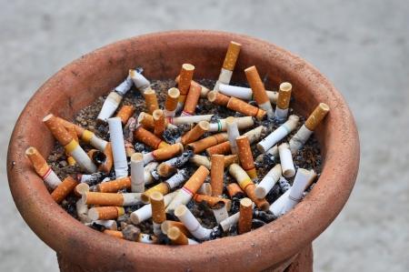 self harm: Cigarettes in ashtray