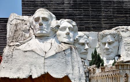 Mount Rushmore replica in Pattaya,Thailand