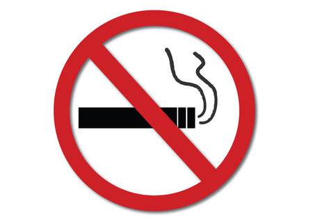 pernicious habit: No smoking sign