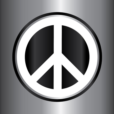 Peace sign vector icon Vector