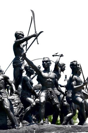singburi: Bang Rachan Heroes Monument in Singburi, Thailand