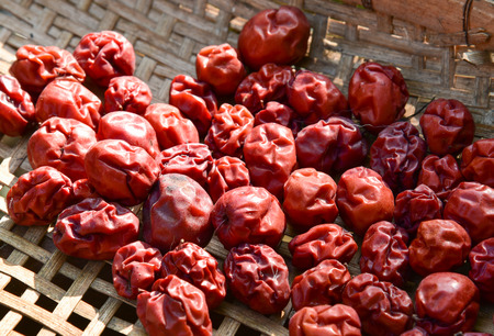 matured: Dried red date or Chinese jujube. Stock Photo