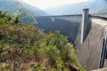 electricity generator: Electricity Generator front of Bhumibhon Dam, Tak, Thailand