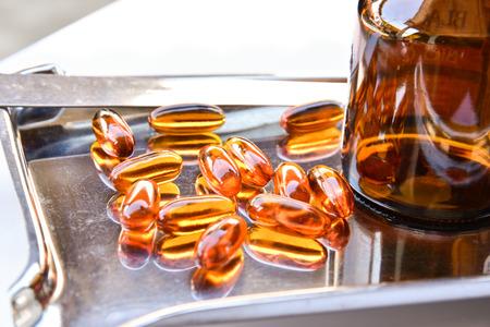 Lecithin gel vitamin supplement capsules photo