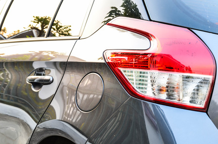 saturated color: The back side of a car Stock Photo