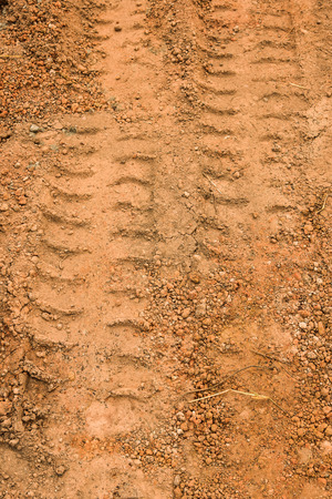 tire marks: Tire marks on the ground