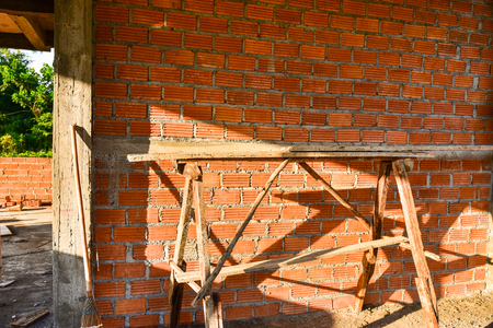 laying: Tool for laying and wall bricks. Stock Photo