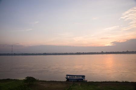 mekong river: Beautiful sunrise at Mekong river Stock Photo