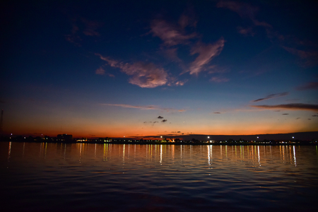 mekong river: Sunset at Mekong river