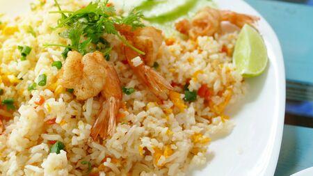 Shrimp fried rice ,Thai food Stok Fotoğraf