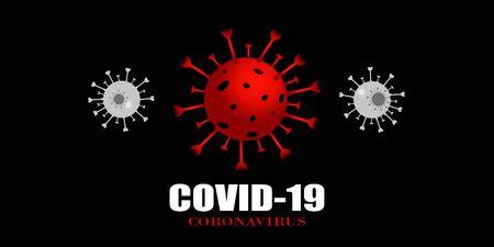 Covid-19 Coronavirus concept inscription. World Health organization WHO introduced new official name for Coronavirus disease named COVID-19, dangerous virus vector illustration Ilustração