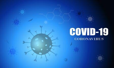 Coronavirus disease COVID-19 infection medical. Respiratory influenza covid virus cells. New official name for Coronavirus disease named COVID-19, vector illustration Vetores