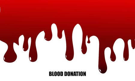 Dripping blood background.Blood Donation concept. Vector illustration Vettoriali