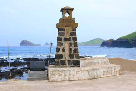 It is an old lighthouse in the Jeju highland.