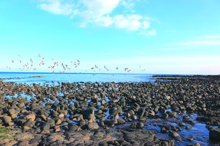 Beautiful scenery of Sincheonri coast in Jeju