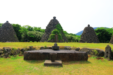 It is a petroglyph altar of stone culture park showing the stone culture of Jeju.