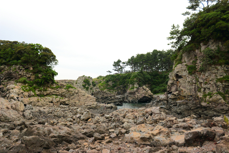 It is the scenery of Seogwipo coast of Jeju.