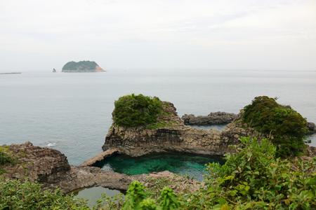 It is the scenery of Seogwipo coast of Jeju