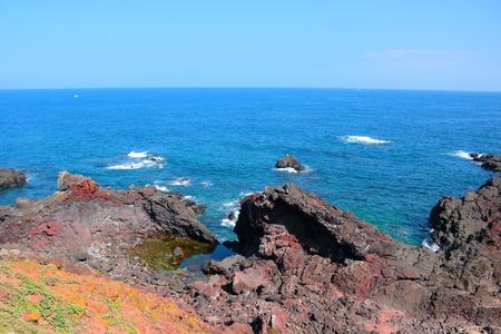 It is a scenery of Seopjikoji of the Jeju Coast.