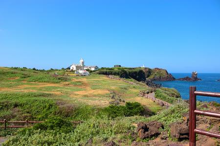 It is a scenery of Seopjikoji of the Jeju Coast. Stock Photo