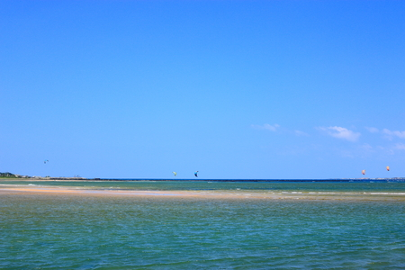 It is scenery of Jeju beach.