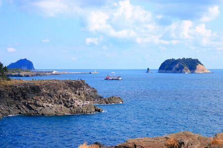coastal scenery of Jeju. Reklamní fotografie