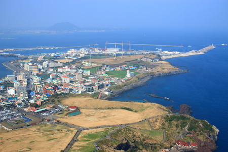 This is the view of Seongsan Ilchulbong in Jeju.
