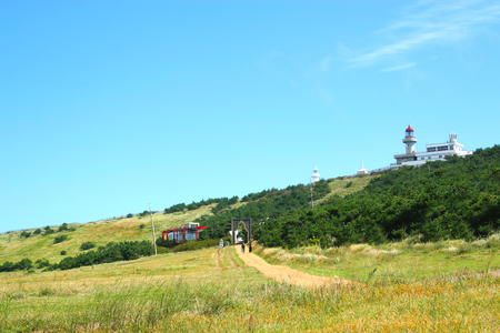 It is the scenery of Udo island in Jeju.