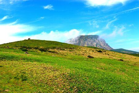 scenery of Mt. Halla in Jeju.