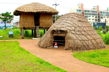 It is a scenery of prehistoric ruins in Jeju
