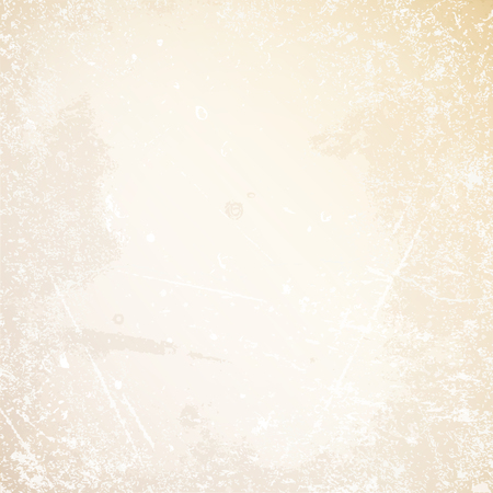 Square Retro Paper Background Scratches And Stains Beige Illustration