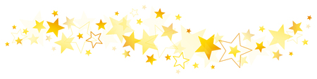 Horizontal Border Different Golden And Yellow Stars