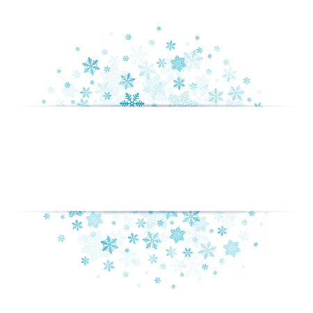 Blue Snowflakes With Banner In The Middle