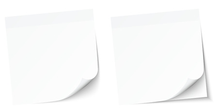 Set Of Two White Notepads Sticky Notes